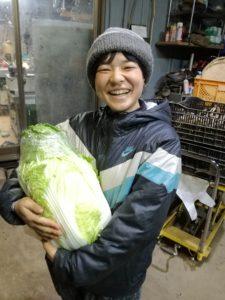 農作業のお手伝い終わりにもらえる野菜のお土産