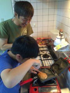 オーガニックスペルト小麦のたい焼き作り