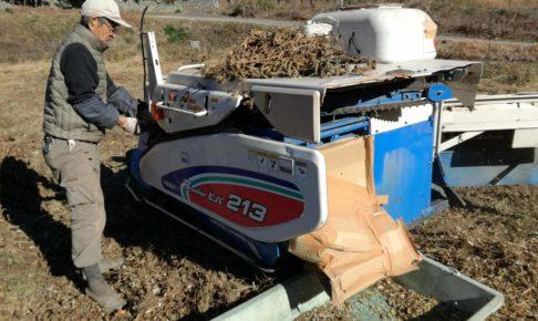 自脱コンバインを大豆脱穀機に改造