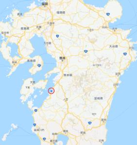 熊本県の南端、葦北町