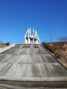 熊本県葦北町の御立岬公園の展望台