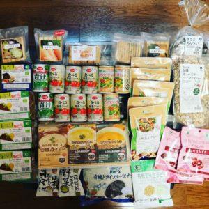 2週間分の大量のオーガニック食材