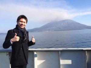 桜島絶景ポイント⑥船の甲板乾(4年前)