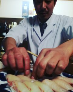 岩城島で唯一の寿司職人現る