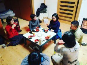 山下農園の圃場での研修→座学での勉強からの鍋パで語らナイト