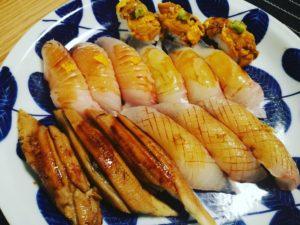 地元愛媛の魚を使った寿司。シャリとのバランスが絶妙!
