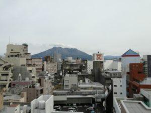 桜島絶景ポイント④パチンコ屋の屋上