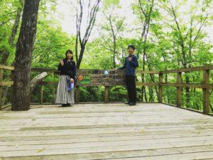 小川町に遊びに来た友達