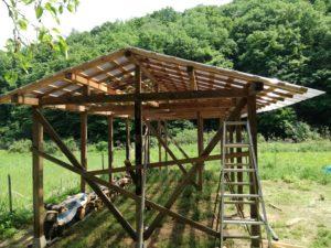 農機小屋作り
