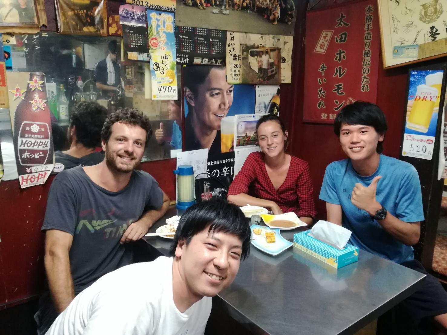 小川町の太田ホルモンで出会った外国人観光客