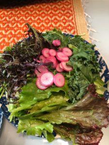小川町の有機野菜サラダ