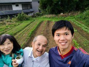 小川町の畑で