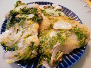 ニンジンの間引き菜の天ぷら