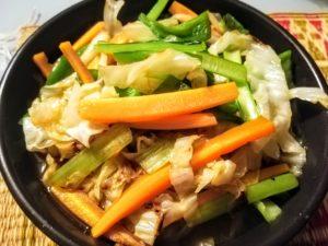 野菜炒め×ラーメン