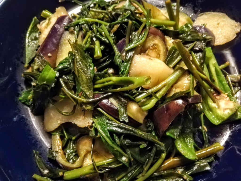 空芯菜の野菜炒め